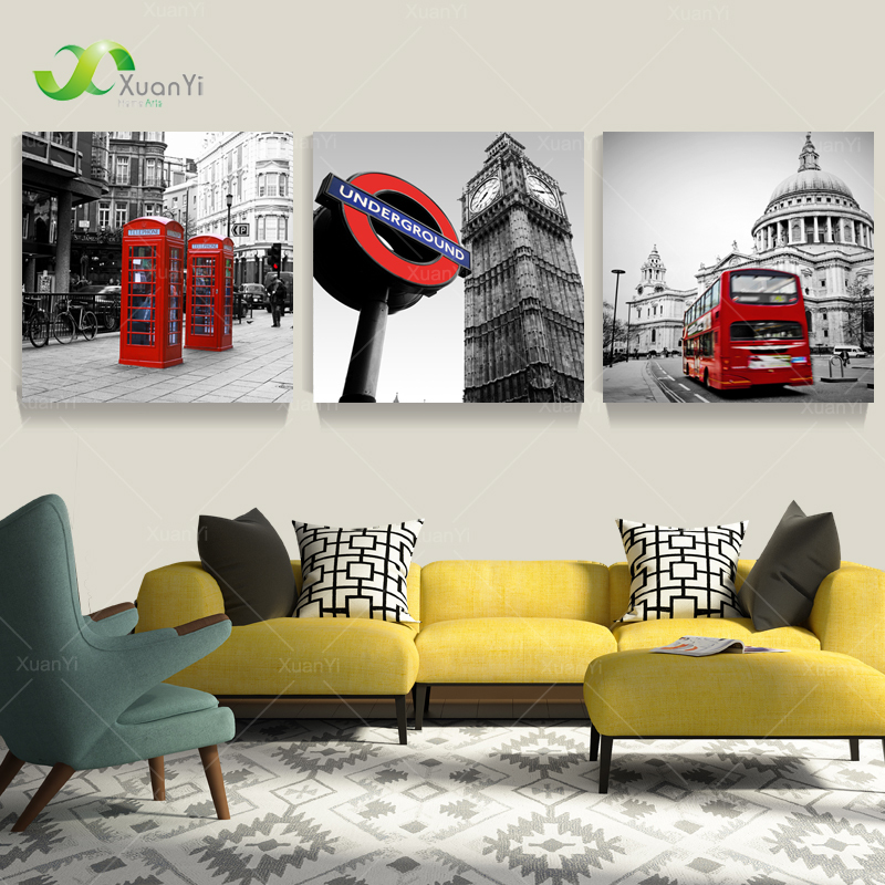 Buy 3 Panel London Landscape Oil Canvas