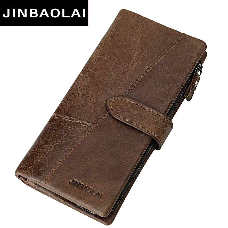New Men Wallets Fashion Wallet Men Purse Clutch Bag Brand Leather Wallet Long Design bag gift for men carteira brown wallet men