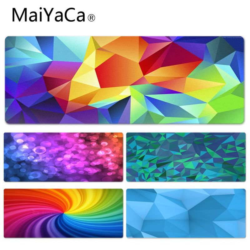 MaiYaCa Polygon And Lights Abstract Office Mice Gamer Soft Lockedge Mouse Pad Size for 40x90CM Speed Version Gaming Mousepads