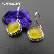 Silver S925 silver jewelry wholesale Topaz Earrings folk style lady air fan s925 pure silver wholesale contracted only beautiful lady topaz st2018 set of chains pure and fresh and euphemism