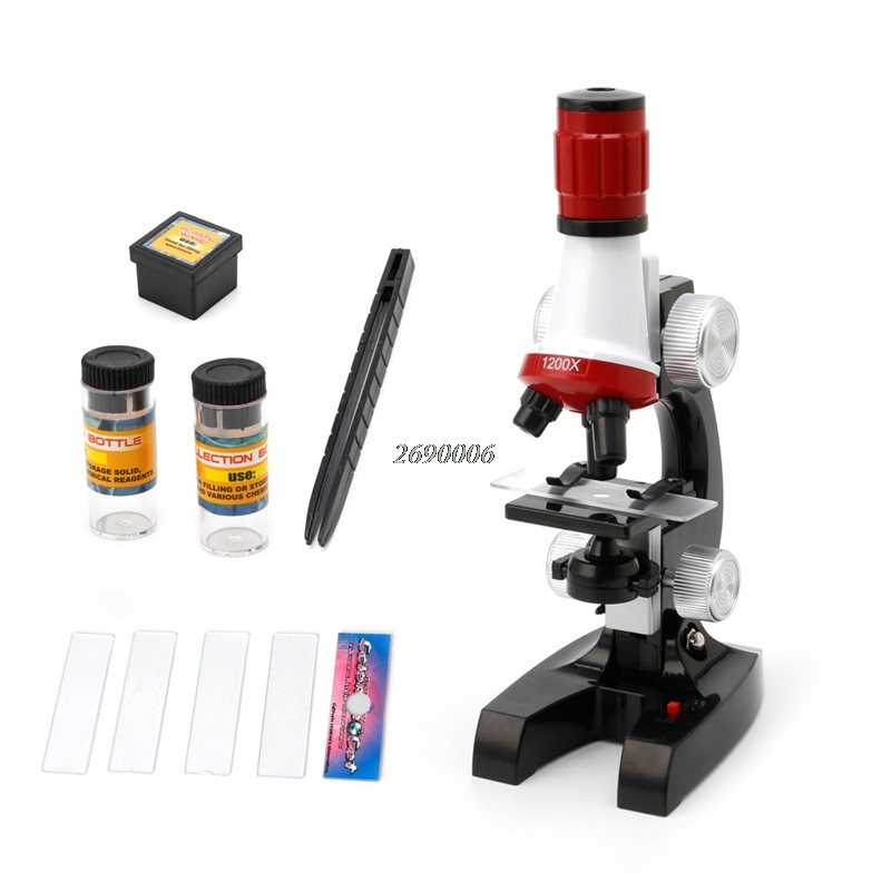 Conception Microscope 100X 400X 1200X Illumination Monoculaire Microscope Biologique pour L'éducation Des Enfants Jouet Outil 2016 Nouveau