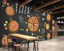 Custom wallpaper Cartoon hand drawn delicious pizza photo wallpaper