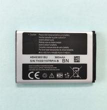 Batterie AB463651BU pour téléphone samsung B3410,B5310,C3200,C3510,C3530,C6112,M7500,M7600,S3370,S3650