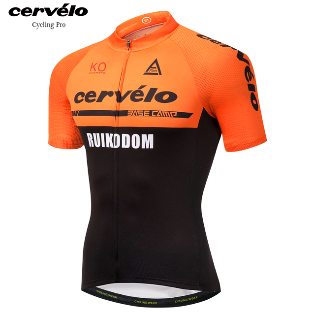 2018 Orange Men s Cycling Jersey Short Sleeve Cycling Clothing Summer  Maillot Ciclismo Anti-sweat Bicycle Jerseys MTB Bike Shirt f4e683476