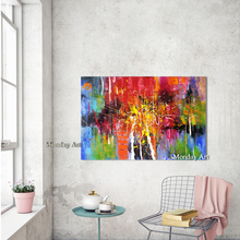 new 100% Handpainted abstract Oil Painting on Canvas colorful modern handmade for living room bedroom