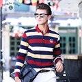 ДЖУНГЛИ ЗОНЫ зимняя мужская С Длинным рукавом Polo рубашка бренд мужской полосатый вязать небольшой лацкан мужские случайные люди's Polo shirts alh000