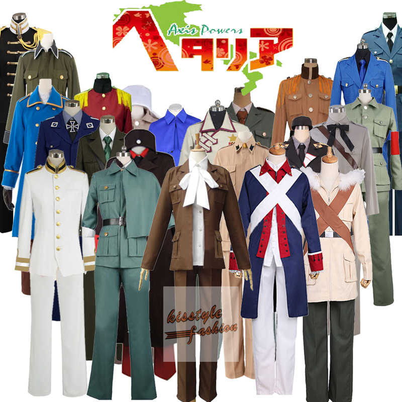 Hetalia Axis Powers APH Países Bajos Prussia América Noruega Bielorrusia Polonia personajes Cosplay disfraz, aceptado personalizado