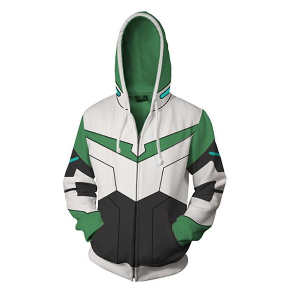 Voltron Legendary Defender Lance Shiro jacket cosplay Princess Allura Costumes 3D Printing zipper Sweatshirts Hooded Hoodies