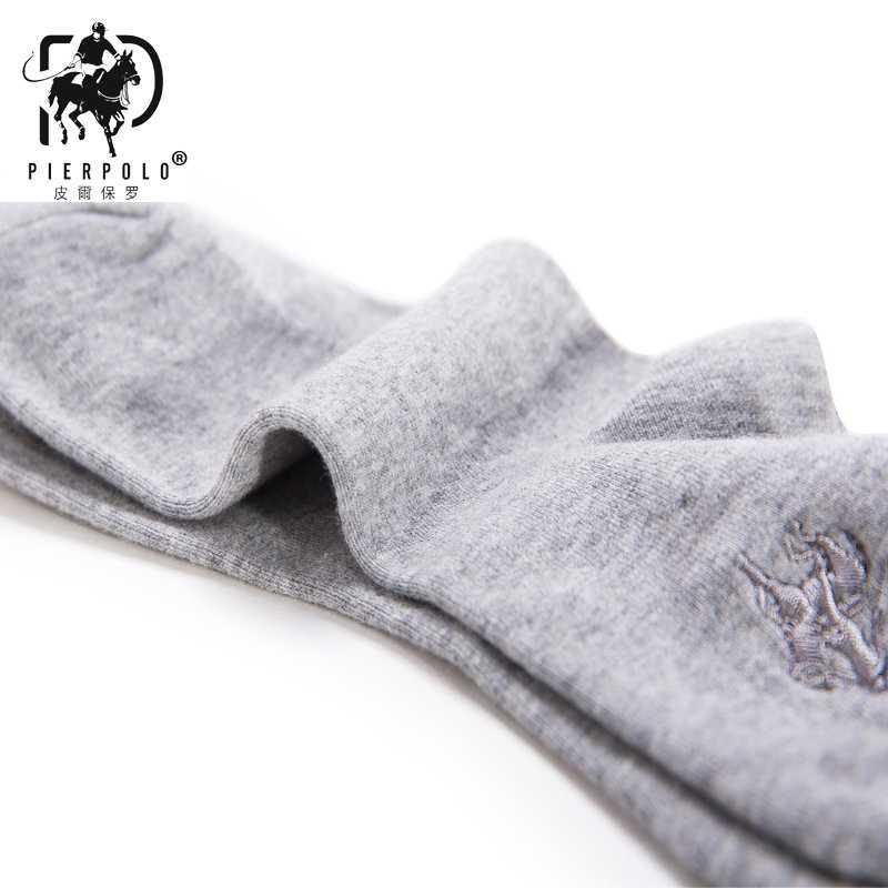 2018 Высокое качество Мода 5 пар/лот бренд Pier Polo Casua хлопковые носки Бизнес Вышивка мужские носки производитель оптовая продажа