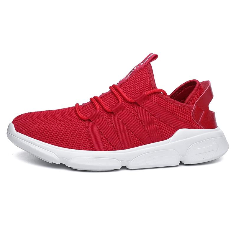 red Hombres Alta Hombre Zapatillas Black white Tamaño Negro 48 Transpirables 39 Para Adultos Los Suave Calidad Zapatos Rojo Deporte De 2019 Blanco Antideslizante Cómodo BOqESS