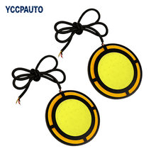 car-styling Daytime Running Lights LED Car DRL Waterproof Light Source 73MM Car Fog Running Lamps 2pcs/set DC12V(China)