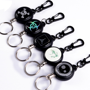 1pcs Elastic Key Chain TAD Steel Rope Burglar Tool Belt Money Retractable Key Recoil Ring Pull Chain Clip(China)