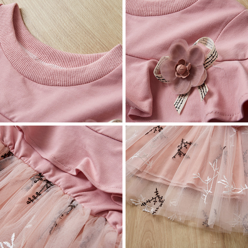 HTB1Fyp1alCw3KVjSZFlq6AJkFXaN Bear Leader Girls Dress 2019 Winter Geometric Pattern Dress Long Sleeve Girls Clothes Top Coat+ Tutu Dress Sweater Knitwear 2pcs
