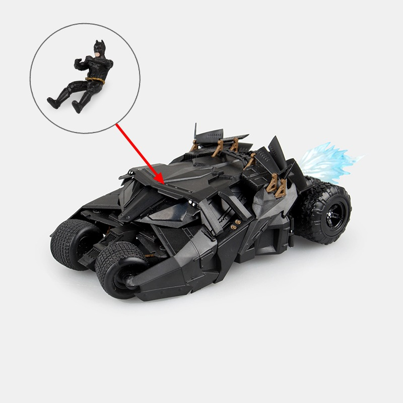 ФОТО 1 Set Super Hero Batman and Batmobile Vehicle The Dark Knight Action Figure Toys Batman Cars Tumbler with 14 CM Model New In Box