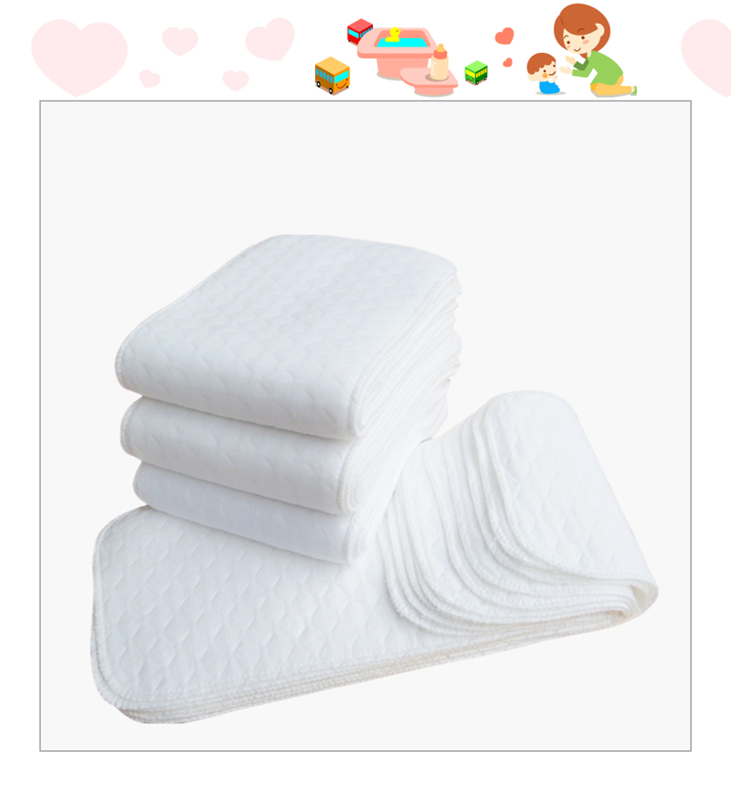 10pieces/bag 46*16CM Baby Reusable Soft And Breathable Cloth Diapers Baby Nappy Products Unisex Washable Diapers For Baby Care