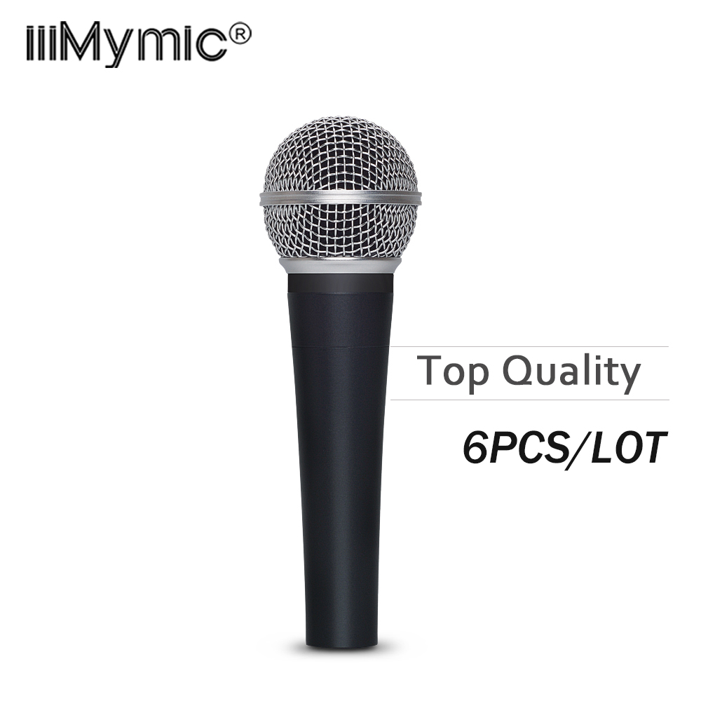 6PCS LOT Top Quality Real Transformer Clear Sound S 58LC Wired Vocal Karaoke Handheld Dynamic 58