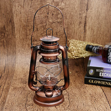 25cm Antique Bronze Iron Candlestick Candle Holder Portable Lantern Lamps Novelty Light Party Festival Decoration WA301 T30