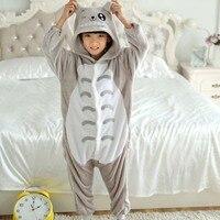 Totoro Overalls Jumpsuit met Zakken Kinderen Cosplay Kostuum Grijs Kigurumi Onesie Deken Dwarsliggers Kinderen Pyjama Hip Met Rits