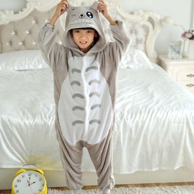 Totoro комбинезоны комбинезон с карманами Детский карнавальный костюм серый  кигуруми Onesie одеяло Sleepers Детская Пижама хип 3b4f738871e79
