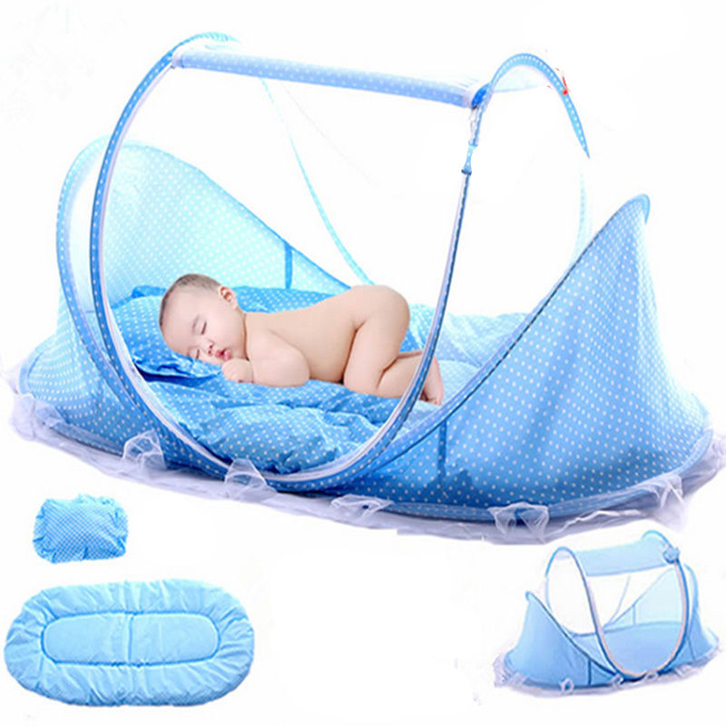Folding Baby Bedding Crib Netting Portable Baby Mosquito Nets Bed