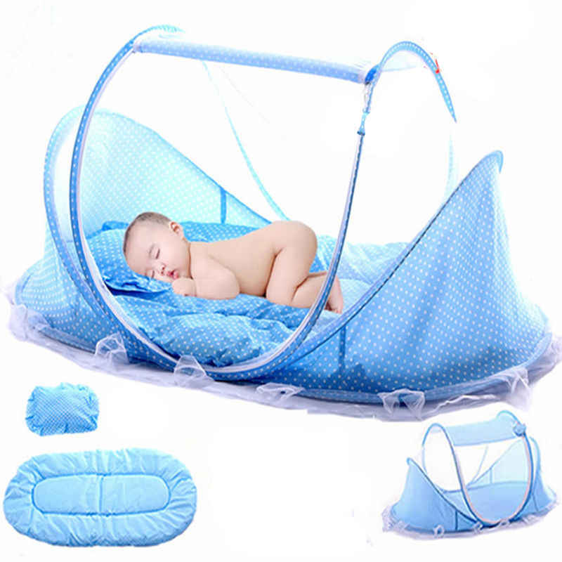 Folding Baby Bedding Crib Netting Portable Baby Mosquito Nets Bed Mattress Pillow Suit For Children Summer Protect Tent Bedding