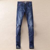 2017 hombres de alta calidad recta negocios ocio jeans hombres Slim Jean ocio rectas hombre jeans Denim JP8606