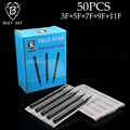 50PCS Mix F Tattoo Tips True Star Black Long Disposable Tips 108mm needles tip For Free Shipping