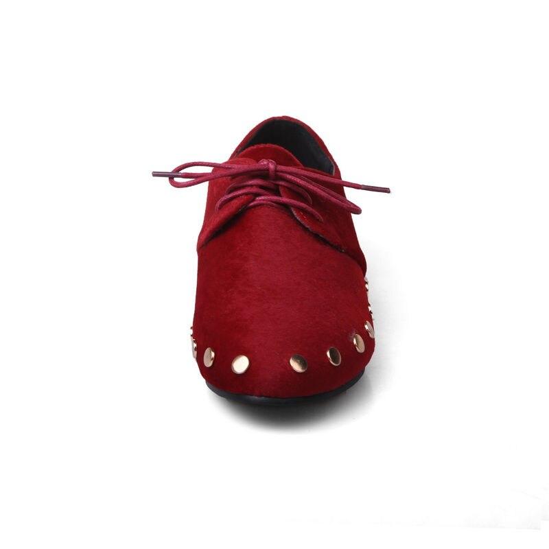 Rivets Printemps Décontractées Noir Lacets Grande Spéciale À Chaussures 34 Dame Sarairis rouge gris Femmes Automne Offre Plates 2019 Taille Femme 43 5UTvqw8