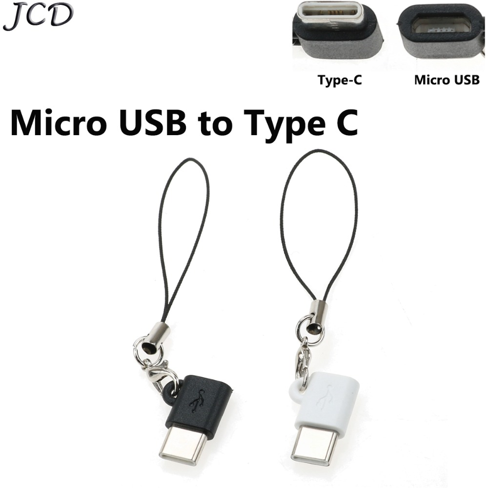 JCD 2-5pcs/lot USB 3.1 Type C Male To Micro USB Female OTG Adapter Type-C Converter Connector USB-C Black And White For Xiaomi 8