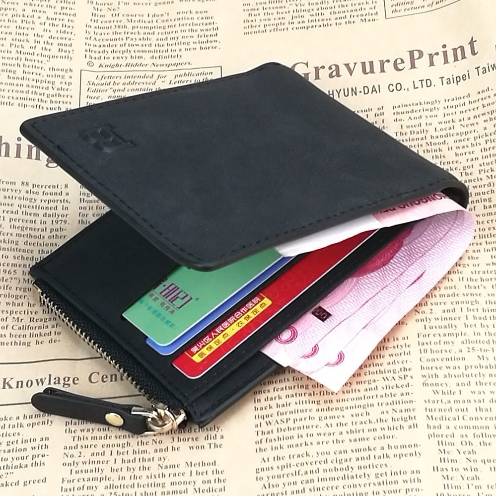 Men Wallet Purse Male Short PU Leather Coin Card Photo Pocket New Style Look Hot Sale Retro Business Stylish Fancy Famous Brand lorways 016 stylish check pattern long style pu leather men s wallet blue coffee