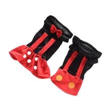 Красные, черные сетчатая Одежда для собак платье принцессы на свадьбу, платье с изображением собаки милое платье мышки для Щенок Чихуахуа кошек для влюбленных; платье и футболка