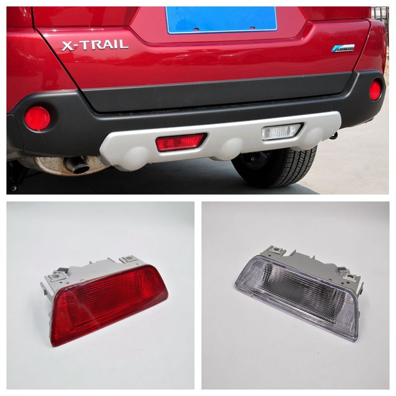 Car Rear Reverse Lamp Bumper Fog Light For Nissan X-Trail 2008 2009 2010 2011 2012 car rear trunk security shield shade cargo cover for nissan qashqai 2008 2009 2010 2011 2012 2013 black beige