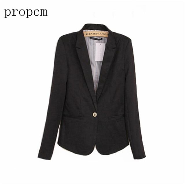 Весна Пальто Женщин 2017 Женщины Blazer С Длинным Рукавом Работа Офис Плюс Размер Мода Повседневная Розовый Черный Костюм Основная Осень Куртка