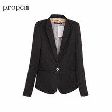 Spring Womens Coat 2017 Women Blazer Long Sleeve Work Office Plus Size Fashion Casual Pink Black Suit Basic Fall Jacket