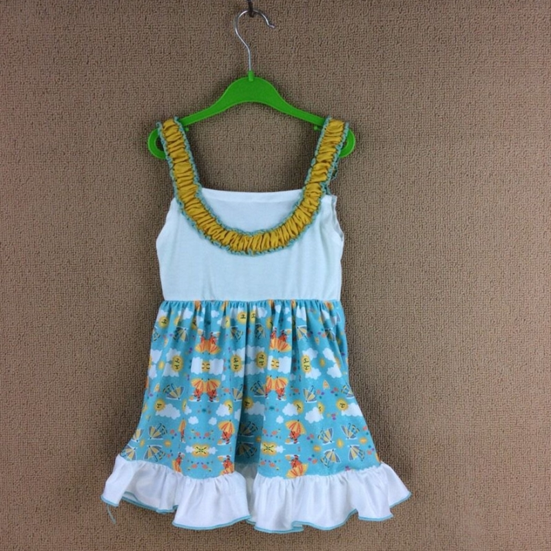 все цены на Cotton Baby Girls dress Summer floral Flower Sleeveless Infants and toddler Kids summer floral cotton print dresses tutu dress