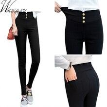 2018 new High Waist Stretch pants Slim Pencil Trouser Women Clothing Pants Sexy Women Lady elastic Skinny Pants S-3XL