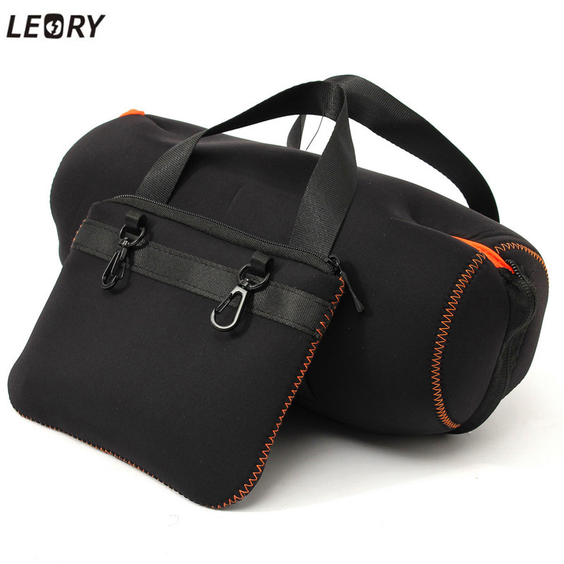 LEORY Portable Bluetooth Speaker Case for JBL Xtreme EVA Case Cover Bag with Extra Bag for Charger Cables Speaker Accessory