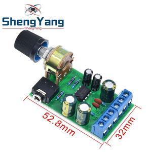 Image 5 - ShengYang Mini DC 3.7 ~ 12V 5V TDA2822M 2.0 CH Stereo Âm Thanh Bộ Khuếch Đại Công Suất Tàu 3.5Mm AUX