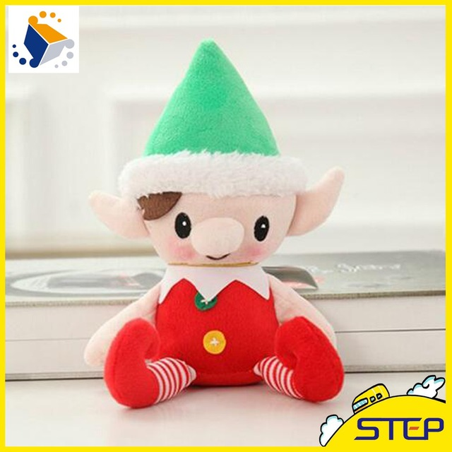 2016 free shipping 30cm high quality christmas decoration snowman christmas elf doll plush toys christmas gifts