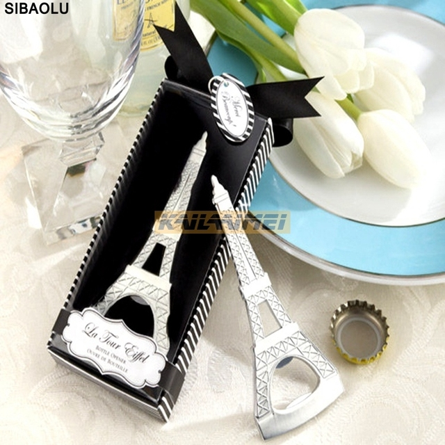 100pcs Happy Wedding Novelty Items Bottle Opener Favors Gift Packaging Giveaways For Guest Free Shipping