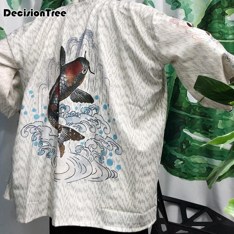 2019 Zomer Mannen Wijde Mouw Kimono Vest Trenchcoat Japanse Harajuku Straat Mannelijke Hip Hop Losse Lange Windjack Met De Beste Service