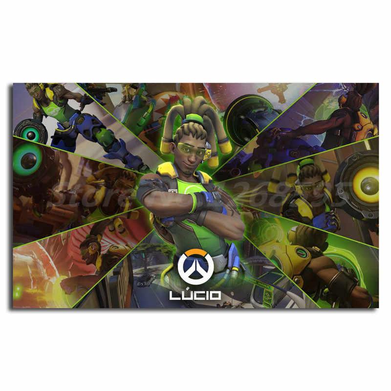 لعبة فيديو Overwatchs Lucio Papel جدار الفن قماش المشارك و طباعة قماش اللوحة الزخرفية صورة ل غرفة المعيشة ديكور المنزل