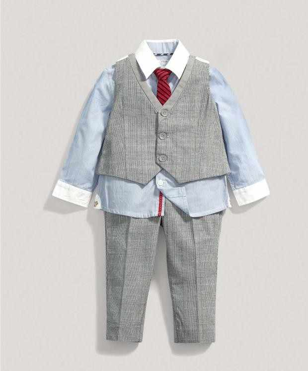 ab58e1bd5074b kids clothes boys autumer 5 years Children Blazer Clothing baby boy  gentlemen outfits set Shirt+vest +pant 3 Pcs Wedding Wear