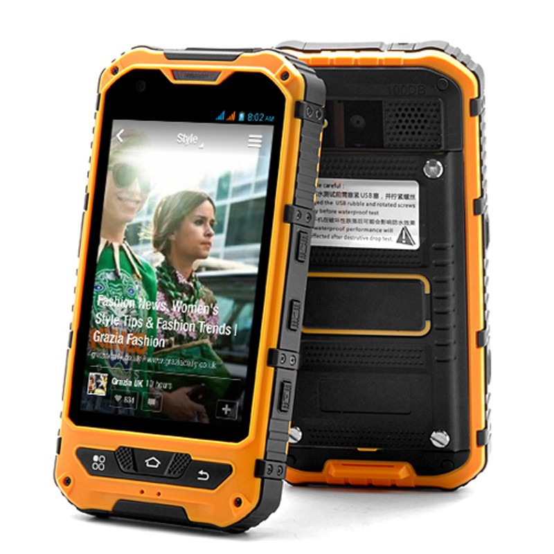 Original A8 IP68 Waterproof Shockproof Rugged Phone MTK6582 Quad Core Android 4 4 1GB RAM 8GB