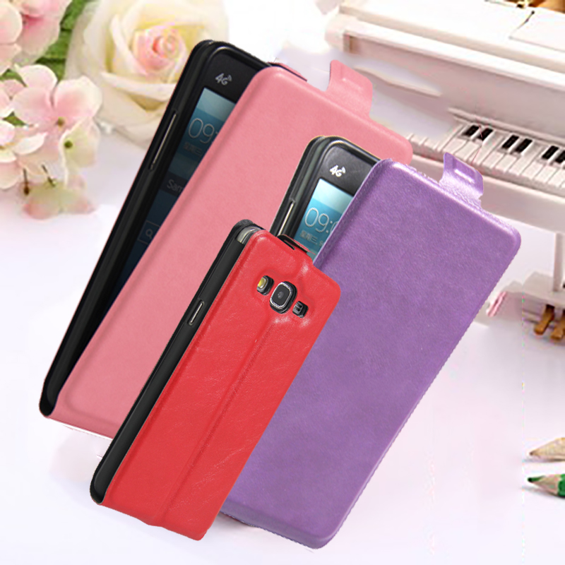 Flip Vertical Leather Phone Case Back Wallet Card Slot Cover for Samsung Galaxy Grand Prime G530 G5306 G530H G531H G531F G5308W