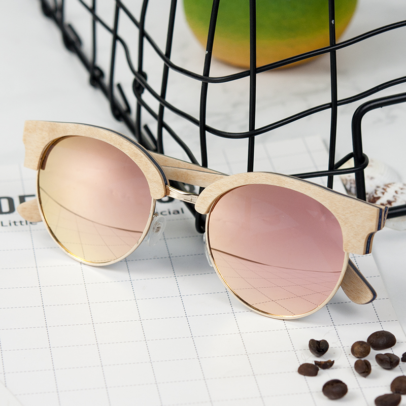 BOBO BIRD Vintage Polarized Wooden Sun Glasses 10