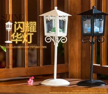 lamp ornaments landing glass candlestick items display wedding photography European iron candlestick Aromatherapy