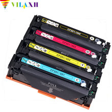 CompatibleVilaxh Color Toner Cartridge M252dn For HP CF401A 402 403A 201A Color LaserJet Pro M277n M274n M252n MFP M277dw цена