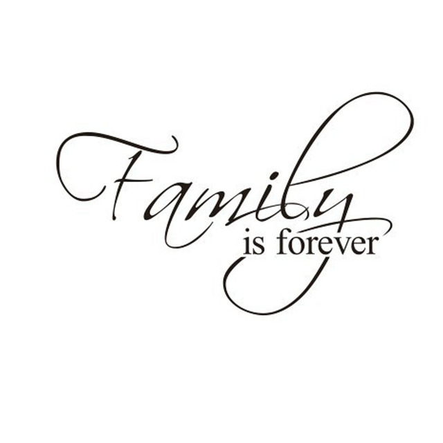Home Use Removable Family Quote Word Decal Vinyl DIY Home Room Decor Impressive Family Quote