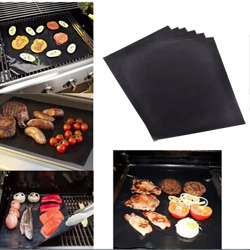 BBQ GRILL MAT set of 3 or 5 sheets Make Grilling Easy BBQ! Reusable Non-stick